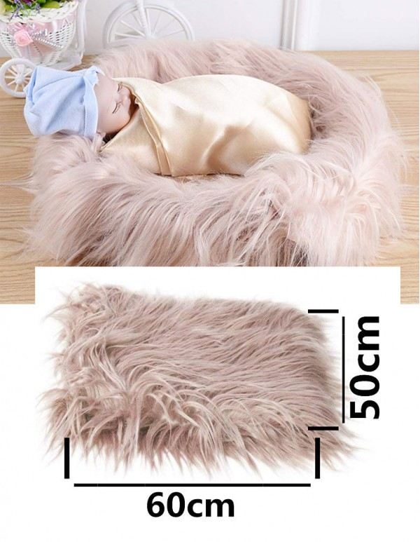 Newborn Baby's Artificial Fur Blanket- Photo Props