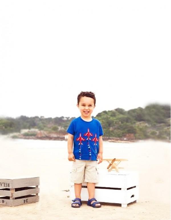 Jumping Meters-Blue Vehicle Print T-Shirt