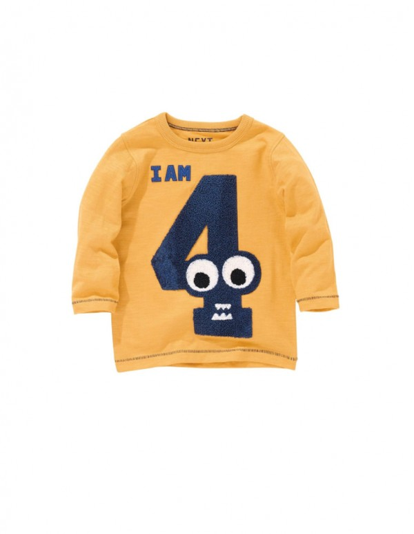 Yellow Text Art Print Full sleeves T-shirts