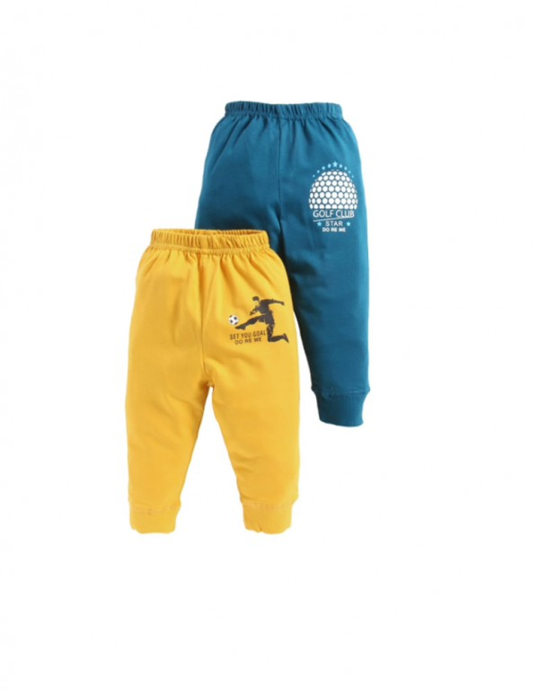 Blue And Yellow Joggers ( Pack of 2)