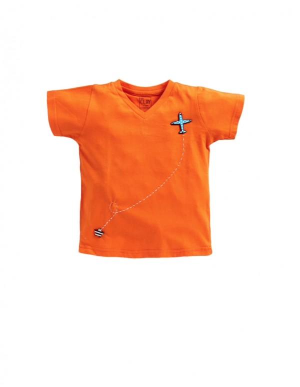 Label Clay-V Neck T-shirt