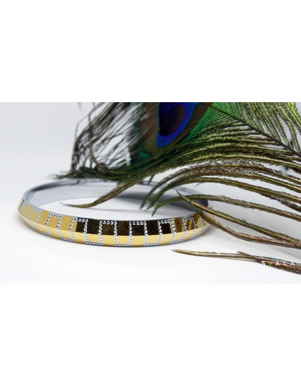 SVALA Premium  gold plated S Shaped-Designer Kada for men and women