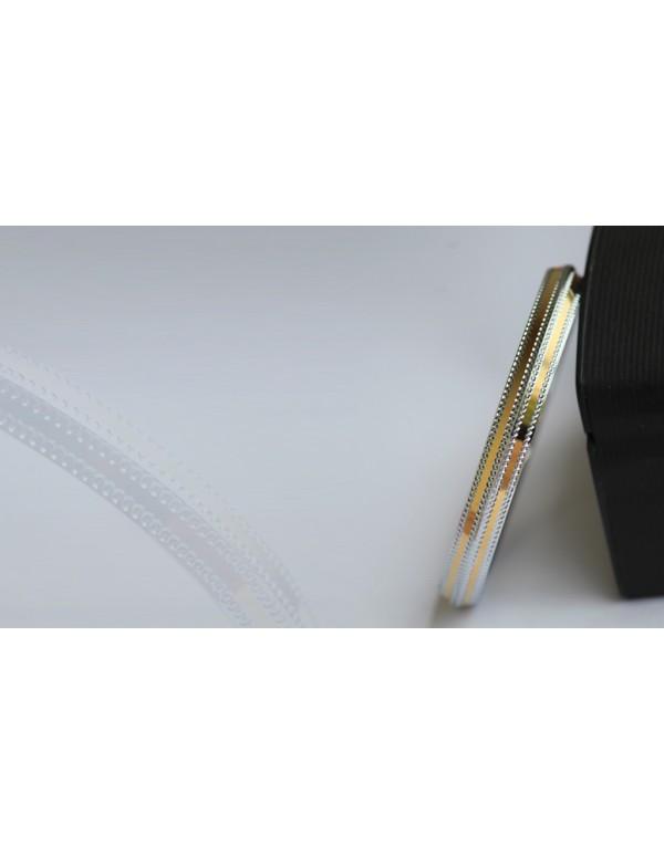 Stainless Steel 2-line gold tone Designer Kada
