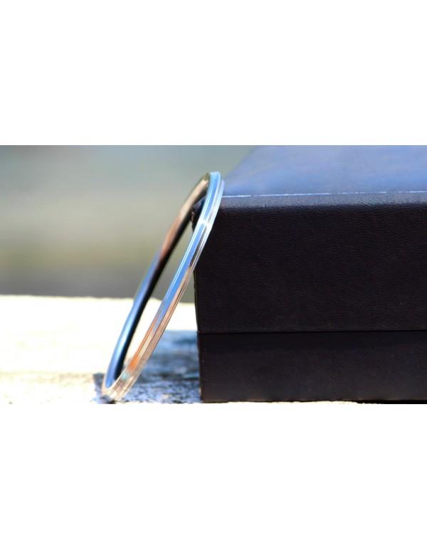 Stainless Steel Designer Punjabi Kada (0.25 inch thickness) (Standard Size)