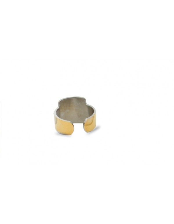 Square Shaped Premium Finish Stainless Steel Saibaba Ring for Men and Women