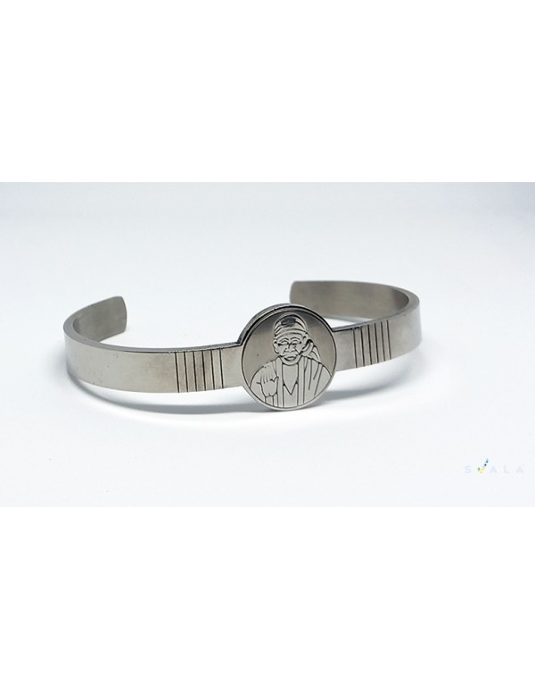 Premium Finish Stainless Steel  SAIBABA Cuff  for Men and Women