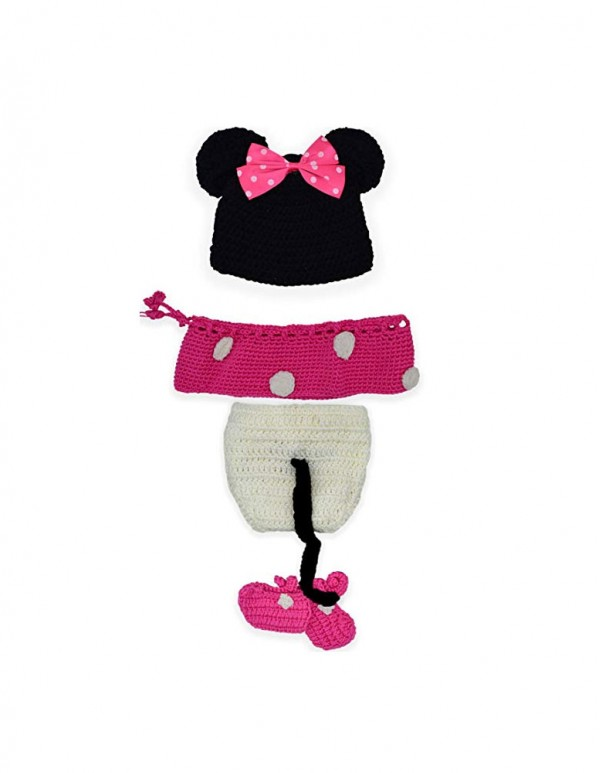 Minnie Mouse Hat, Skirt, Shorts and Booties Crochet -Photoshoot Props