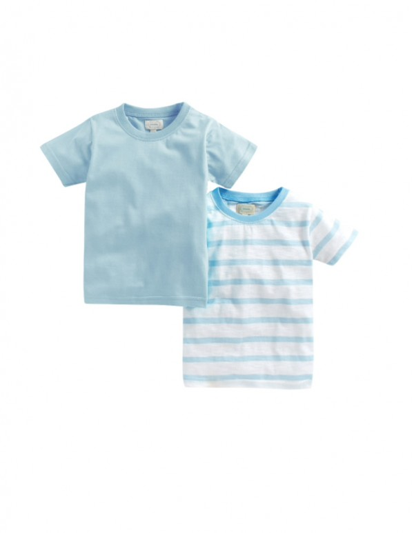 Boys Blue Combo T-Shirts (Pack of 2)