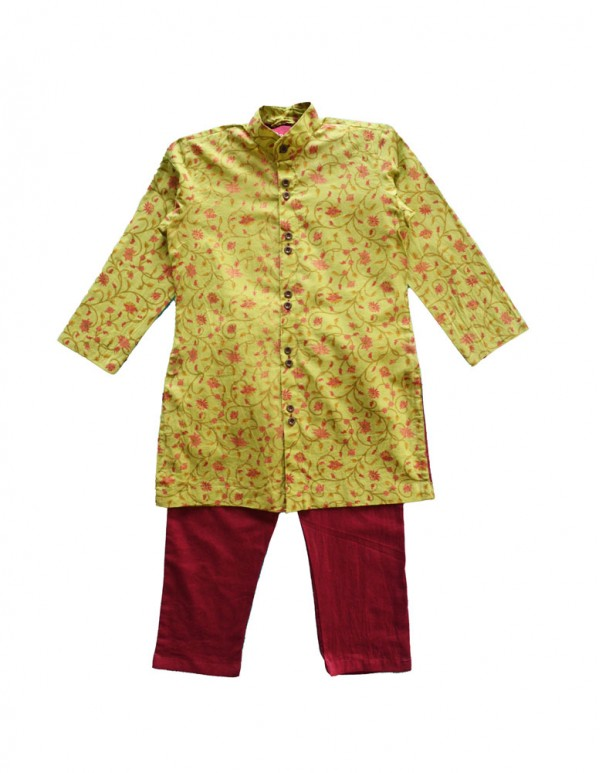 Festive Print cotton Kurta Pajama Set