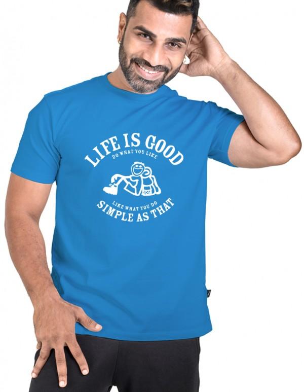 Men's Crew Neck Custom Printed T-shirt