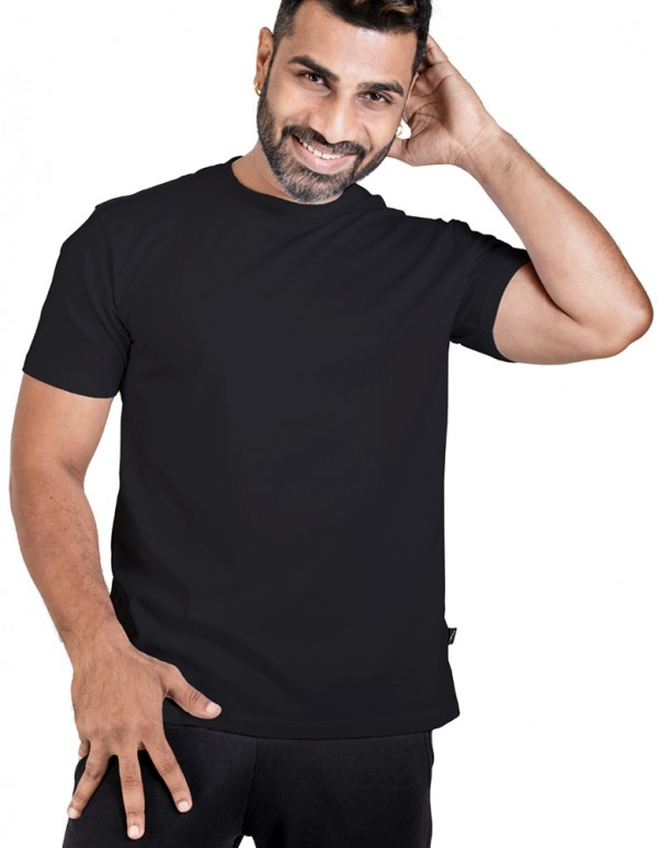 Men's Jet Black Plain Tees- (Buy1 Get1 Offer)