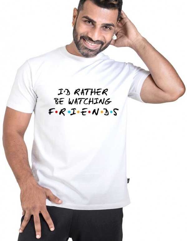 Crew Neck Men's Custom Printed-Friends Tee