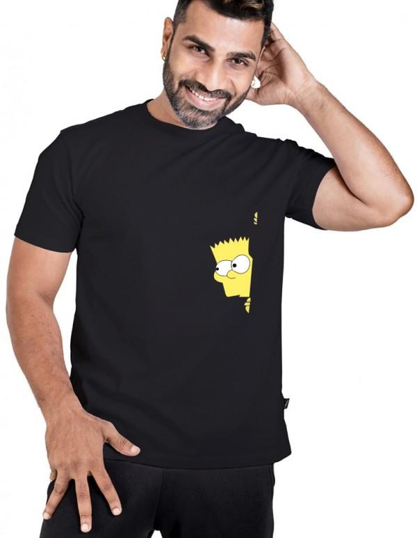 Men's Crew Neck Custom Printed -Simpson Tee